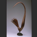 Heron in Black Walnut