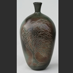 Vase with Windblown Tree 2