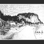 Pointe au Pic, China Ink by Marc Tremblay